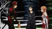 Klein, Kirito y Asuna