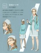 Aki Natsuki character design (booklet)