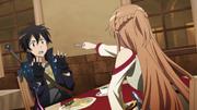 Asuna con tenedor