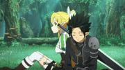 Leafa cuidando avatar