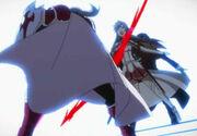 Asuna schütz Kirito mit ihrem Körper