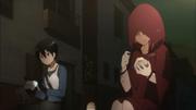 Kirito y Asuna comen