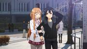 Asuna y Kazuto cita