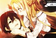 Asuna y Kirito herido