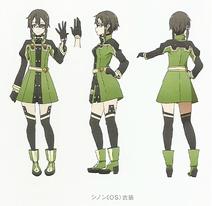 Sinon Character Design Art - SAO Secret Report