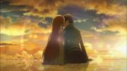 Kirito y Asuna en el cielo