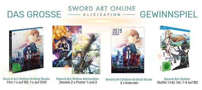 Sword Art Online Gewinne Übersicht
