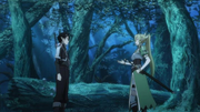 Leafa Kirito primer encuentro
