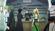 Kirito y Leafa tienda