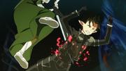 Kirito apuñalado por Oberon