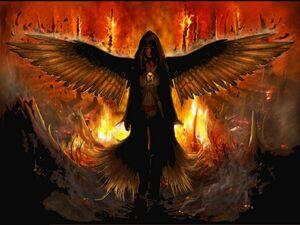 Fallen angels symbol