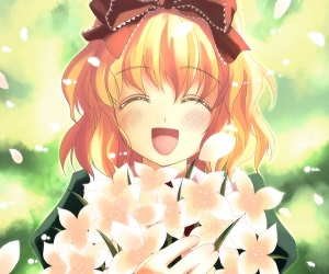 Blondes touhou flowers happy anime flower petals medicine melancholy anime girls games 1600x1200 wallpaperswa.com 9