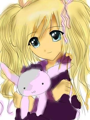 Blonde anime girl by iluvmanga1-d55trjo