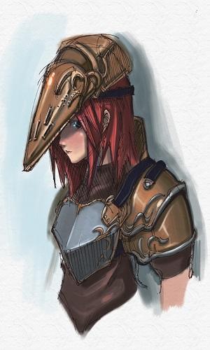 Girl knight by Kuroi1nu