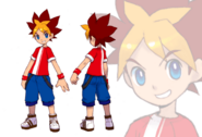 SaruSaru Big Mission - Spike Concept Art