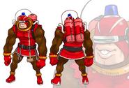 SaruSaru Big Mission - Red Monkey Concept Art