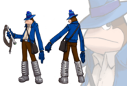 SaruSaru Big Mission - Blue Monkey Concept Art