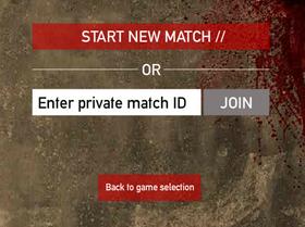 Private Match Screen