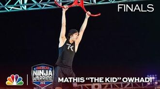 "Mathis ""The Kid"" Owhadi at the Vegas Finals- Stage 1 - American Ninja Warrior 2018"