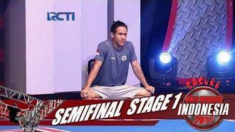 SASUKE NINJA WARRIOR INDONESIA - M Ibnu Rusdy Noe Di Semi Final Stage 1 10 September 2017