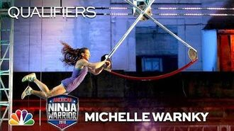 Michelle Warnky at the Philadelphia City Qualifiers - American Ninja Warrior 2018