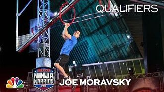 Joe Moravsky at the Minneapolis City Qualifiers - American Ninja Warrior 2018