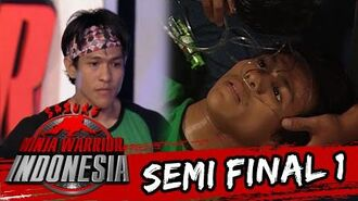 M. Ibnu Rusdy Terjatuh Pingsan Saat Kehabisan Waktu Sasuke Ninja Warrior Indonesia 3 April 2016
