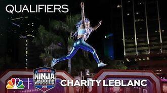 Charity LeBlanc at the Miami City Qualifiers - American Ninja Warrior 2018