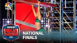 Jessie Graff at the National Finals- Stage 2 - American Ninja Warrior 2016