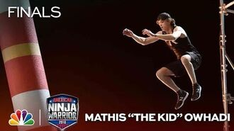 "Mathis ""The Kid"" Owhadi at the Vegas Finals- Stage 2 - American Ninja Warrior 2018"