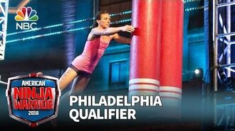 Michelle Warnky at the Philadelphia Qualifier - American Ninja Warrior 2016