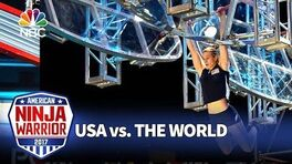 Jessie Graff's Record-Breaking Run - American Ninja Warrior- USA vs