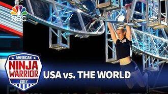 Jessie Graff's Record-Breaking Run - American Ninja Warrior- USA vs. The World