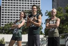 -11 Team TNT- Travis Rosen (Captain). Brett Sims and Marybeth Wang