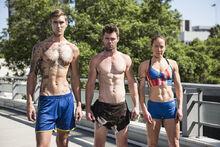 -4 Team Tarzan- Ben Melick (Captain). Travis Weinand and Rose Wetzel (Team Ninja Warrior Season 2).