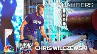 Chris Wilczewski at the Philadelphia City Qualifiers - American Ninja Warrior 2018