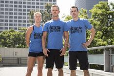 -16 The Ninja Brittens- Geoff Britten (Captain)., Mike Chick and Jessica Britten (Team Ninja Warrior Season 2).