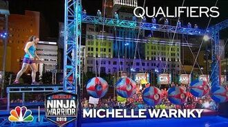 Michelle Warnky's Bloody Amazing Run - American Ninja Warrior Cincinnati Qualifiers 2019
