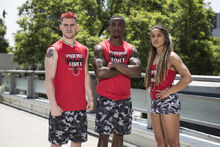 -17 The Phoenix Force- Najee Richardson (Captain). Dan Galiczynski and Cassie Craig (Team Ninja Warrior Season 2).