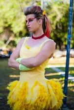 Jessie Graff in her Chicken Costume from the live action chicken fight- 2013-08-24 19-14