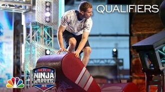 Chad Riddle at the Philadelphia City Qualifiers - American Ninja Warrior 2018