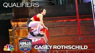 Youngest Woman to Hit Buzzer- Casey Rothschild's Qualifiers Run - American Ninja Warrior 2018