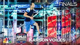 Karson Voiles at the Vegas Finals- Stage 1 - American Ninja Warrior 2018