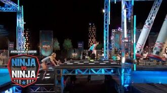 Brittany Reid Vs. Barclay Stockett (S1 E3) - American Ninja Warrior- Ninja Vs