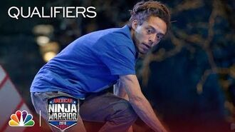 Kyle Stradtman at the Indianapolis City Qualifiers - American Ninja Warrior 2018