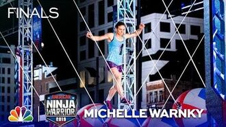 Michelle Warnky Makes History! - American Ninja Warrior Cincinnati City Finals 2019