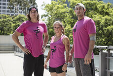 -13 Team Flowmingo- Alan Connealy (Captain). JB Douglas and Luci Romberg (Team Ninja Warrior Season 2).