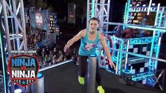 Barclay Stockett Vs. Larissa Cottle (S1 E14) - American Ninja Warrior- Ninja Vs