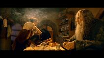 Gandalf and Frodo in Bag End