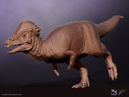 Pachycephalosaurus saurian by littlebaardo dal8dae-pre